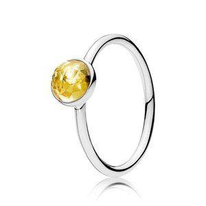 🍓Pandora November Droplet Birthstone Ring